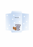 Envelop voor geld (ontwerp met muis)
