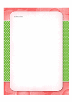 Briefpapier (ontwerp met bloemen)