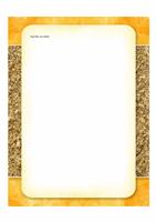 Briefpapier (ontwerp met zon en zand)