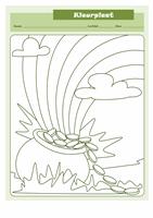 St. Patrick's Day-kleurplaat (ontwerp Pot met goud)