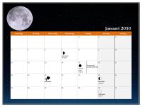 Maankalender voor 2010 (Universal Time)