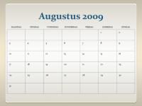 Kalender voor academisch jaar 2009-2010 (13 pagina's, ma-zo)