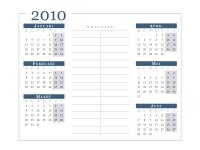 Kalender 2010 (6 maanden per pagina, ma-zo)