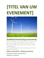 Folder voor evenement