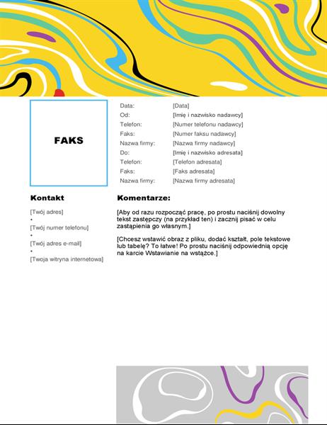 Wir kolorów — strona tytułowa faksu
