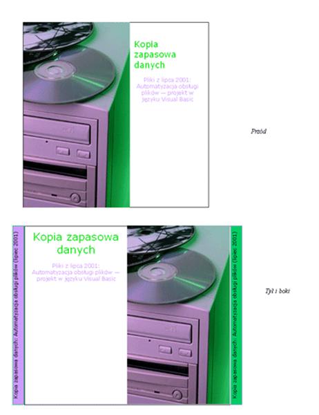 Wkładki do pudełek na dyski CD z kopiami zapasowymi danych