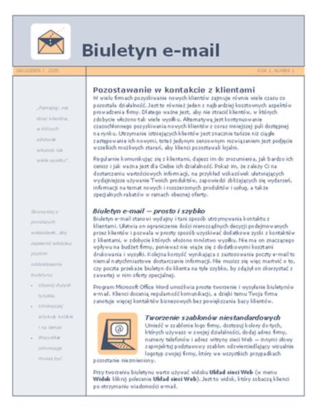 Biuletyn e-mail