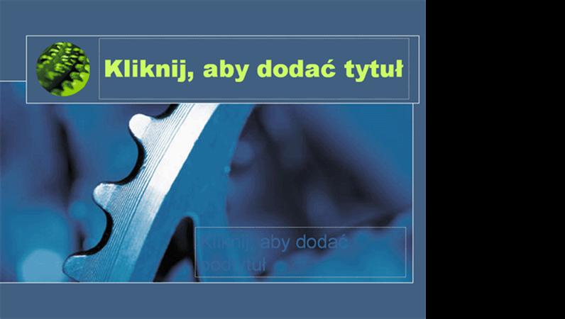 """Szablon projektu """"Niebieskie koło zamachowe"""""""