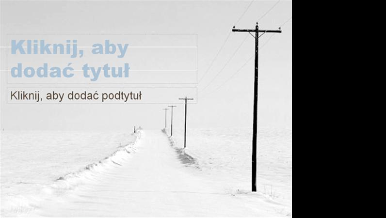"Szablon projektu ""Śnieżna droga"""