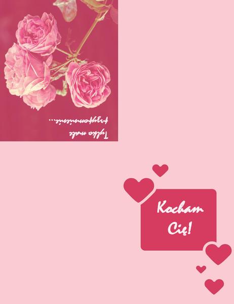 Kartka romantyczna (składana na cztery)