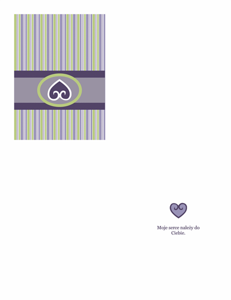 Kartka miłosna (purpurowa)