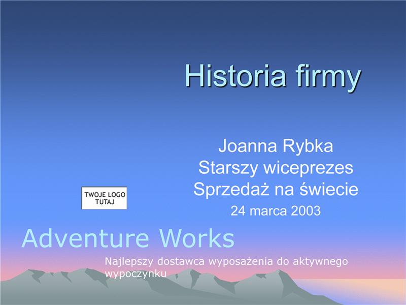 Prezentacja historii firmy