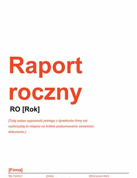 Sprawozdanie roczne (projekt Czerwono-czarny)