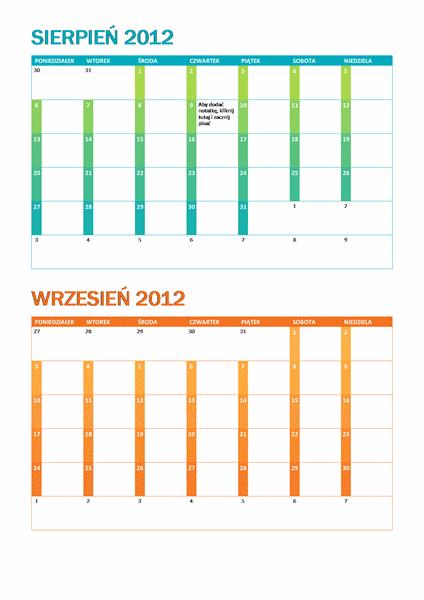 Kalendarz akademicki pon–niedz