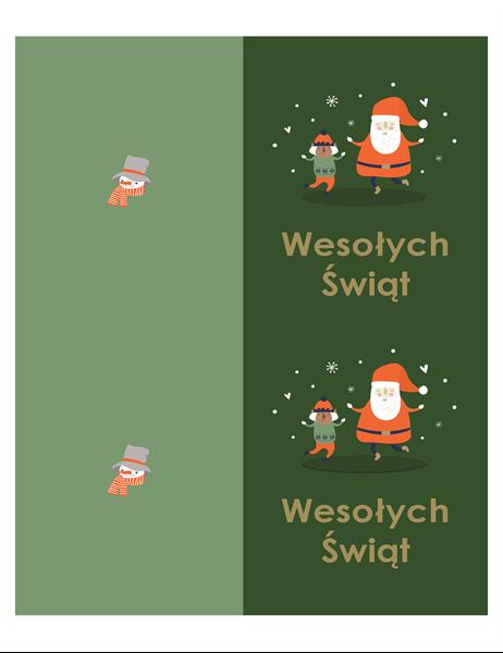 Kartki bożonarodzeniowe (projekt atmosfery Bożego Narodzenia, 2 na stronę, do papierów Avery)