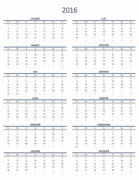 Kalendarz roczny