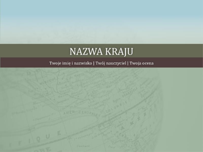 Prezentacja raportu krajowego