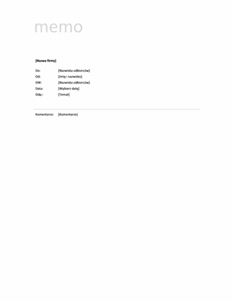Nota (projekt prosty)
