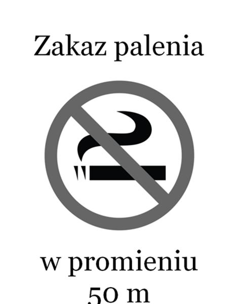 Znak Zakaz palenia (czarno-biały)