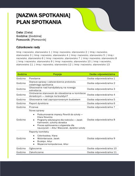 Plan spotkania edukacyjnego
