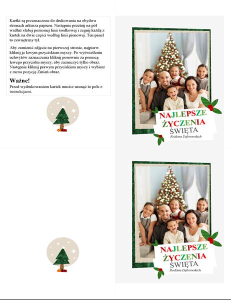Kolaż zdjęciowy — karta świąteczna