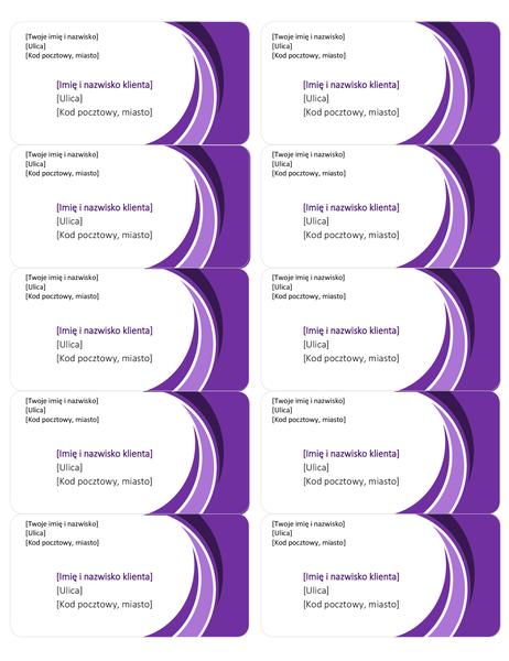 Fioletowe etykiety wysyłkowe (10 na stronie)