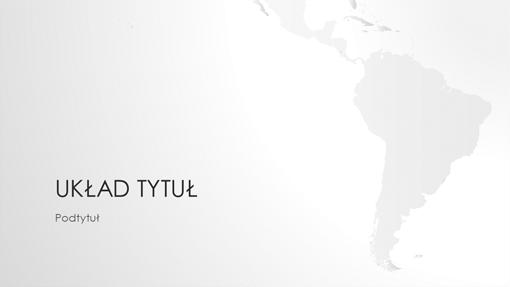 Seria map świata, prezentacja Ameryka Południowa (panoramiczna)