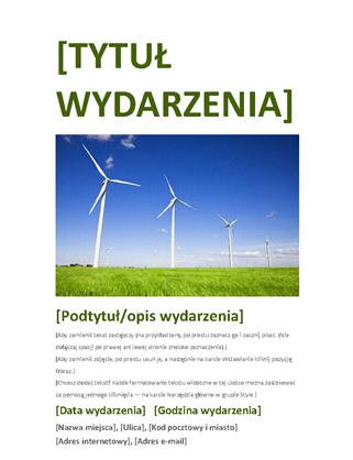 Ulotka z zaproszeniem na wydarzenie (zielona)