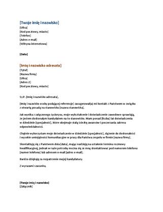 Życiorys funkcjonalny i list motywacyjny (dopasowany do życiorysu funkcjonalnego)