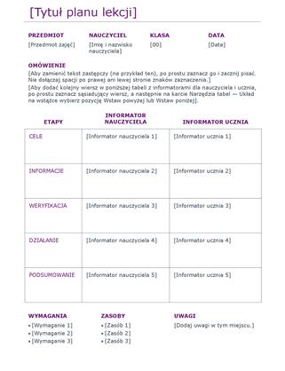 Plan lekcji (kolorowy)