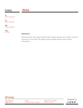 Nota biznesowa (projekt Czerwono-czarny)