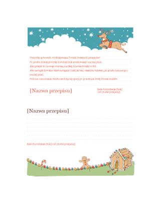 Karty z przepisami bożonarodzeniowymi