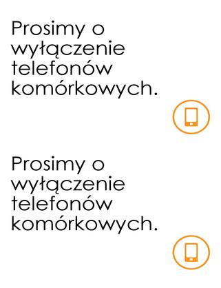 Przypomnienie o wyłączeniu telefonu komórkowego