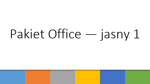 Pakiet Office —jasny 1