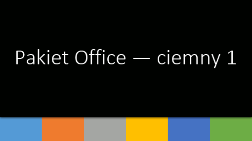 Pakiet Office —ciemny 1