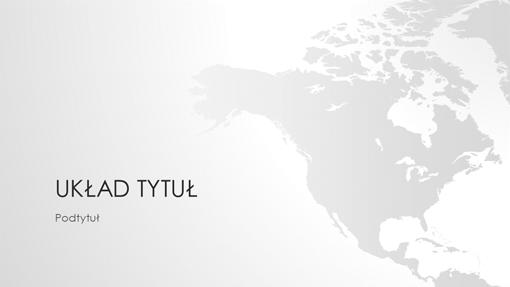 Seria map świata, prezentacja Ameryka Północna (panoramiczna)