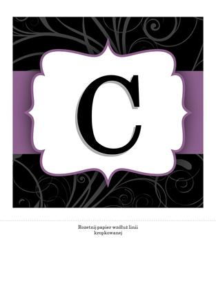 Transparent rocznicowy (projekt Fioletowa wstążka)