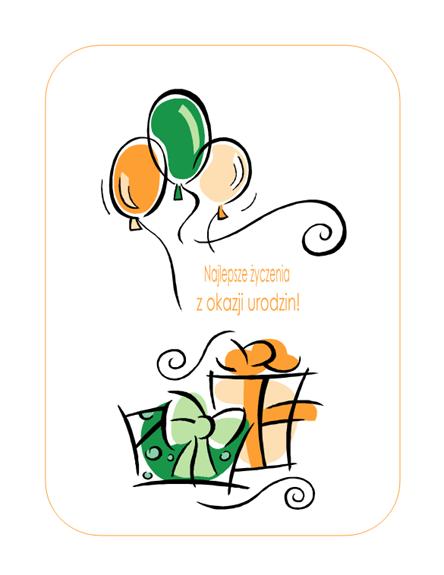 Karta urodzinowa (z balonikami)