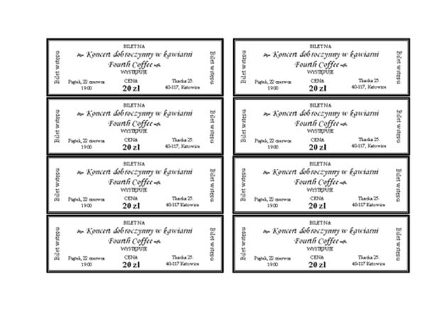 Bilety na imprezy