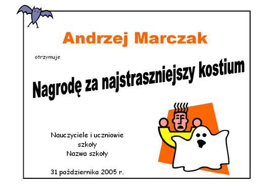 Nagroda za kostium na Halloween