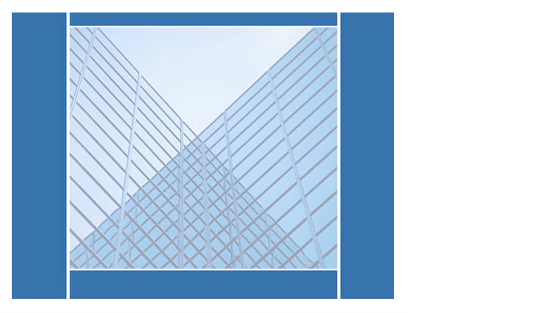 Lustrzane odbicie budynków — szablon projektu