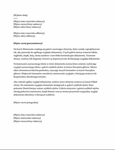 List (projekt Kierownictwo)