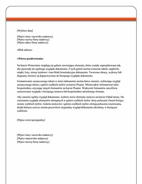 List korespondencji seryjnej (motyw Kapitał)