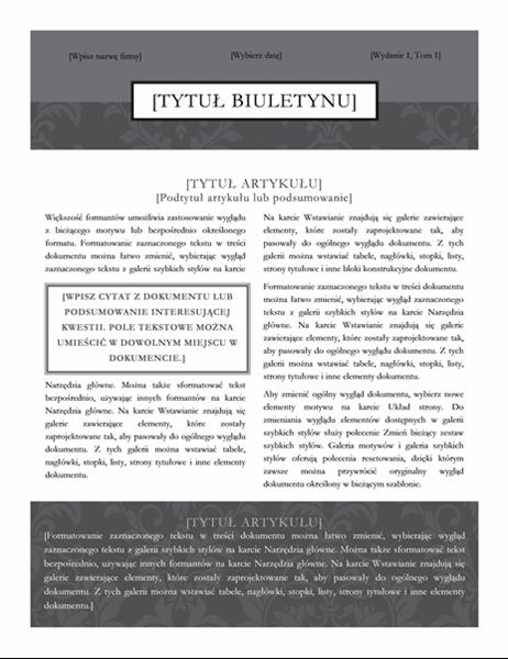 Biuletyn (motyw Czarny krawat)