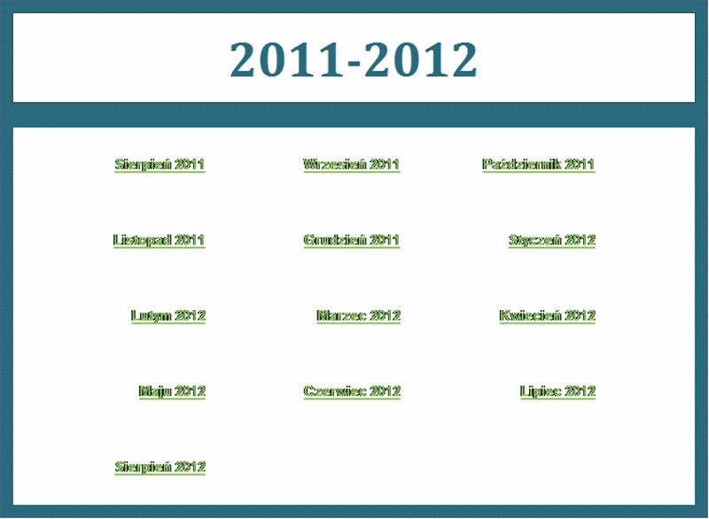 Kalendarz akademicki 2011/2012 (pon.–niedz.)