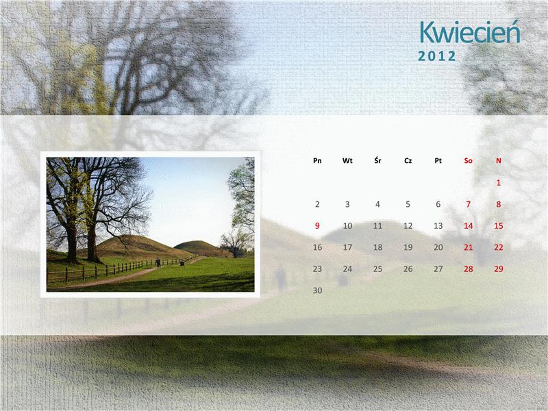 Kalendarz na rok 2012 z fotografiami — drugi kwartał