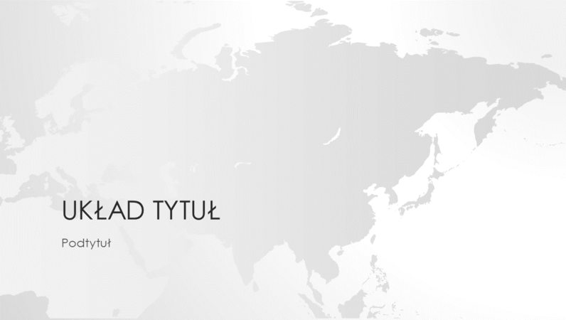 Seria map świata, prezentacja Kontynent azjatycki (panoramiczna)
