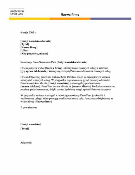 Nagłówek listu (motyw poziomy)
