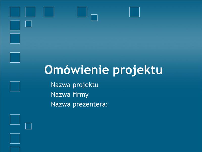 Prezentacja z omówieniem projektu