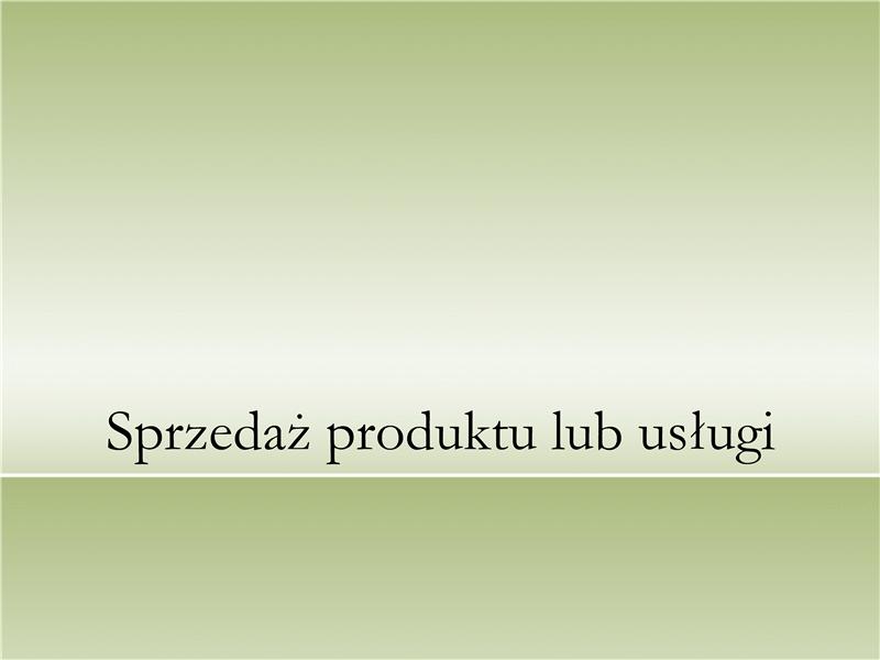 Prezentacja produktu lub usługi